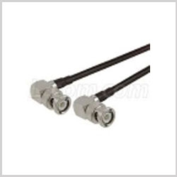 BNC Male Right Angle to BNC Male Right Angle , 20 feet 195-Series Jumper