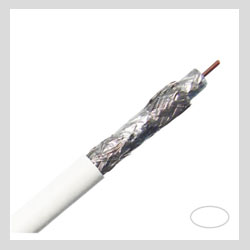 Images - Coaxial Cables - RG6 Quad Shield Coaxial Cable 3.0 Ghz Copper Clad Dialectric Plenum