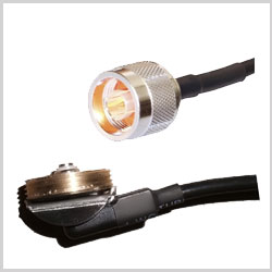 NMO/TAD to N Male Plug , 2 feet 195-Series Jumper
