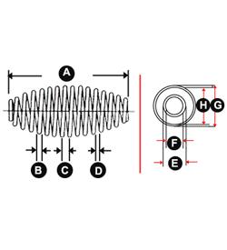 Image - Compression Springs - Barrel Spring Convex