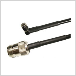 SMA Male Right Angle to N Female , 10 feet 195-Series Jumper