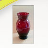 Glass-vase-red