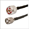 RP-TNC Plug to N Male ,low loss 240 series Jumper 2 feet