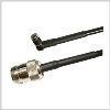 SMA Male Right Angle to N Female , 2 feet 195-Series Jumper