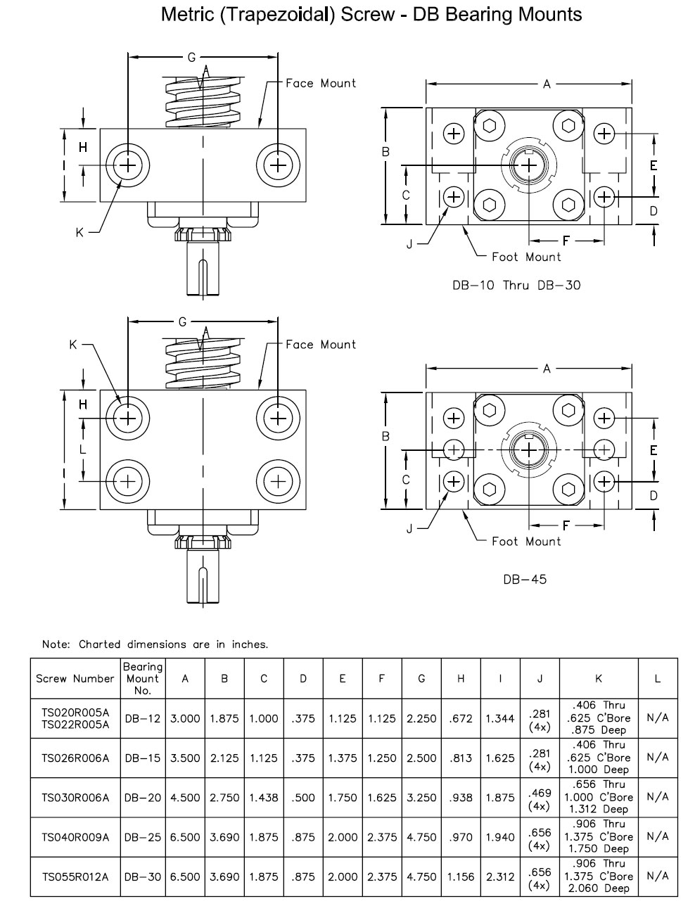 DB Bearing Blocks and Screw End Conditions 2