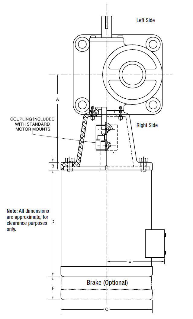 Motor Mounts and Stock Motors Fig
