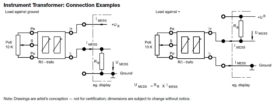 Instrument Transformer: Connection Examples
